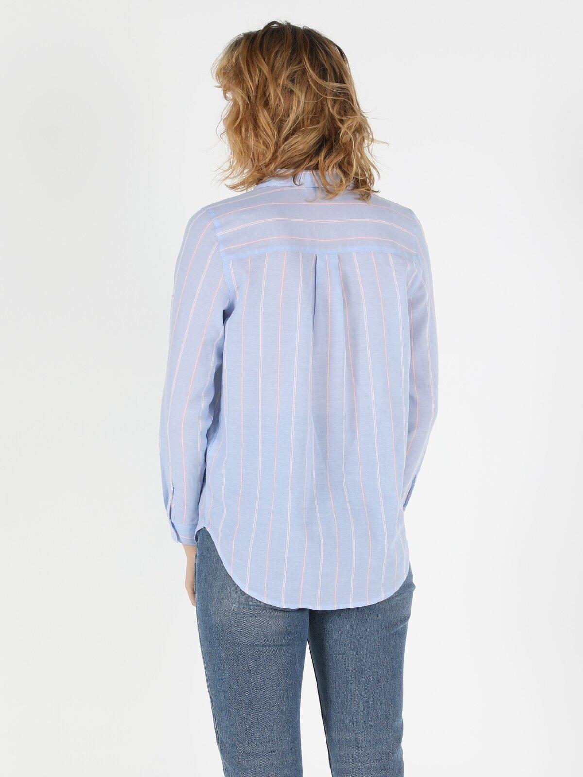 Показать информацию о Женская рубашка с длинним рукавом  CL1049228