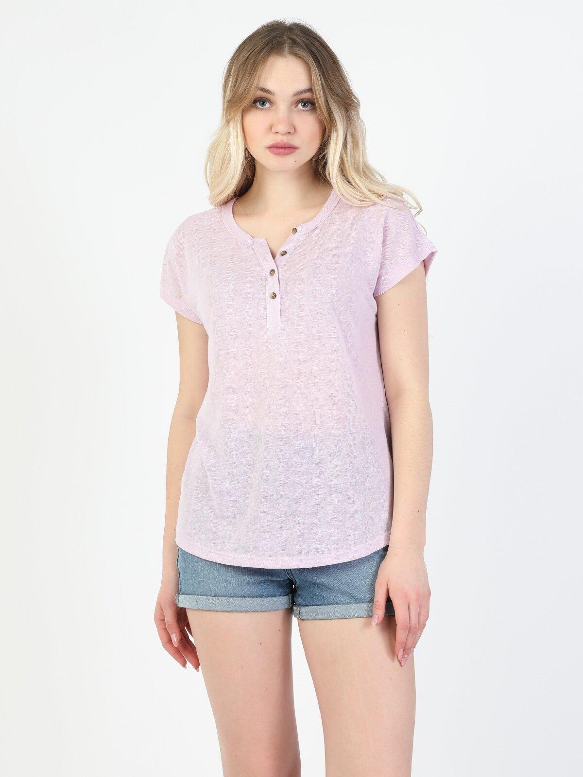 Показать информацию о Женская футболка с коротким рукавом regular fit CL1048047