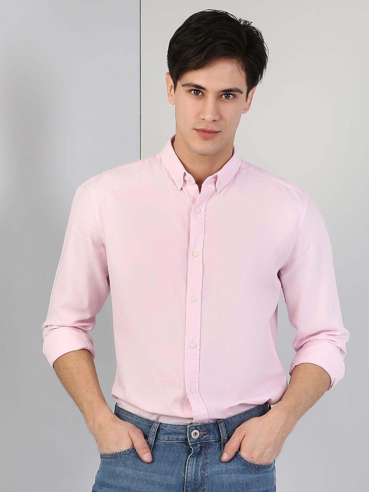 Показать информацию о Мужская рубашка с длинним рукавом regular fit CL1031345