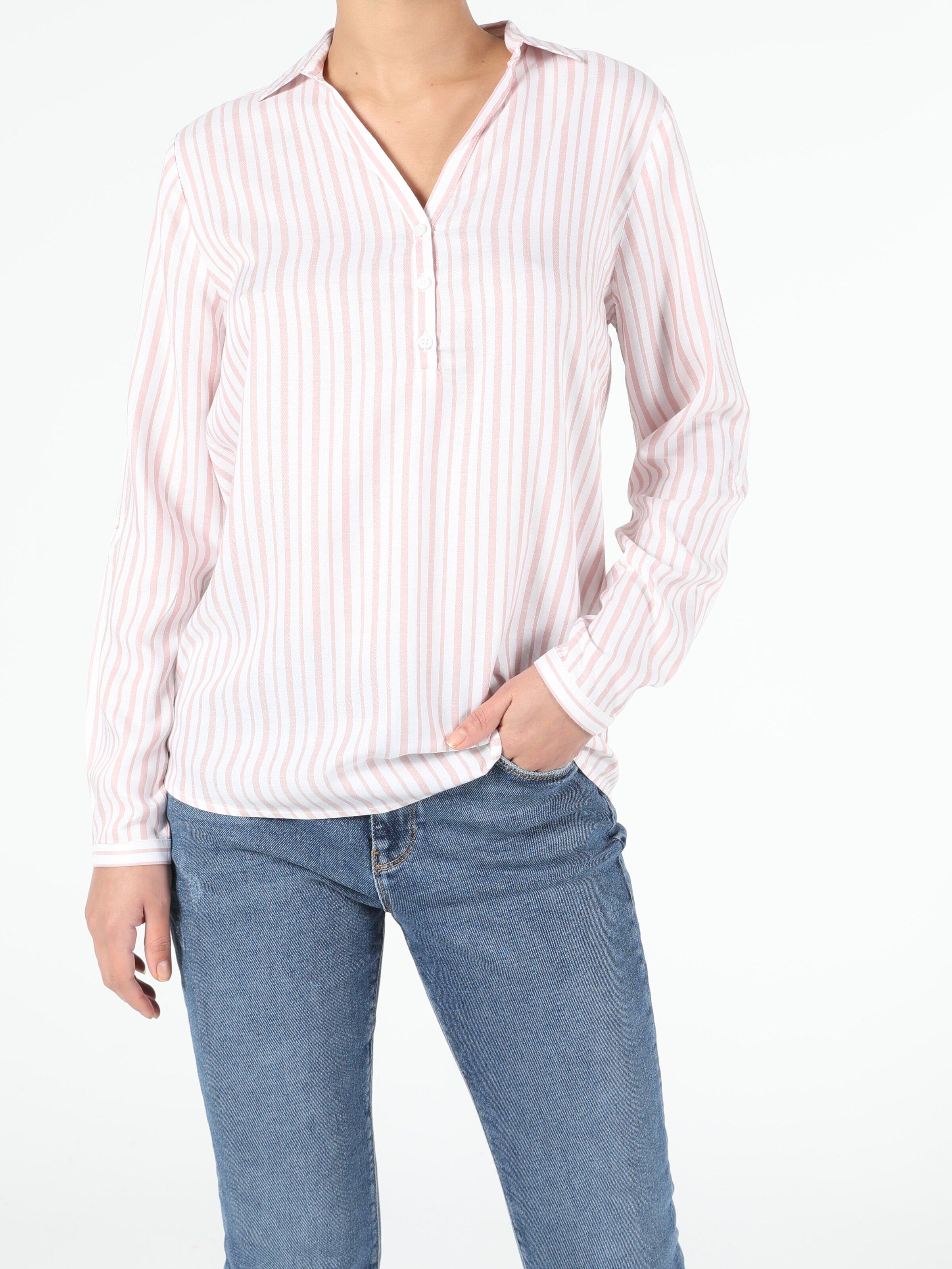 Показать информацию о Розовый жен. Блузки Длинный рукав
