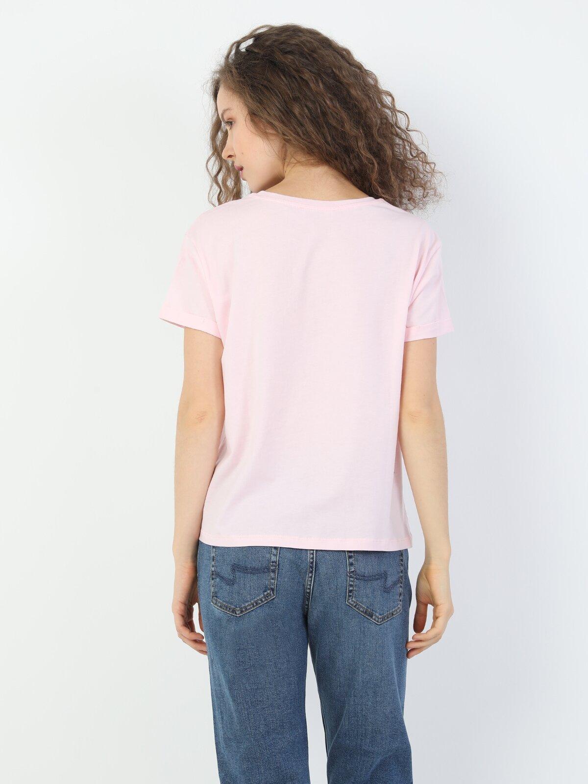 Показать информацию о Женская футболка с коротким рукавом regular fit CL1047172
