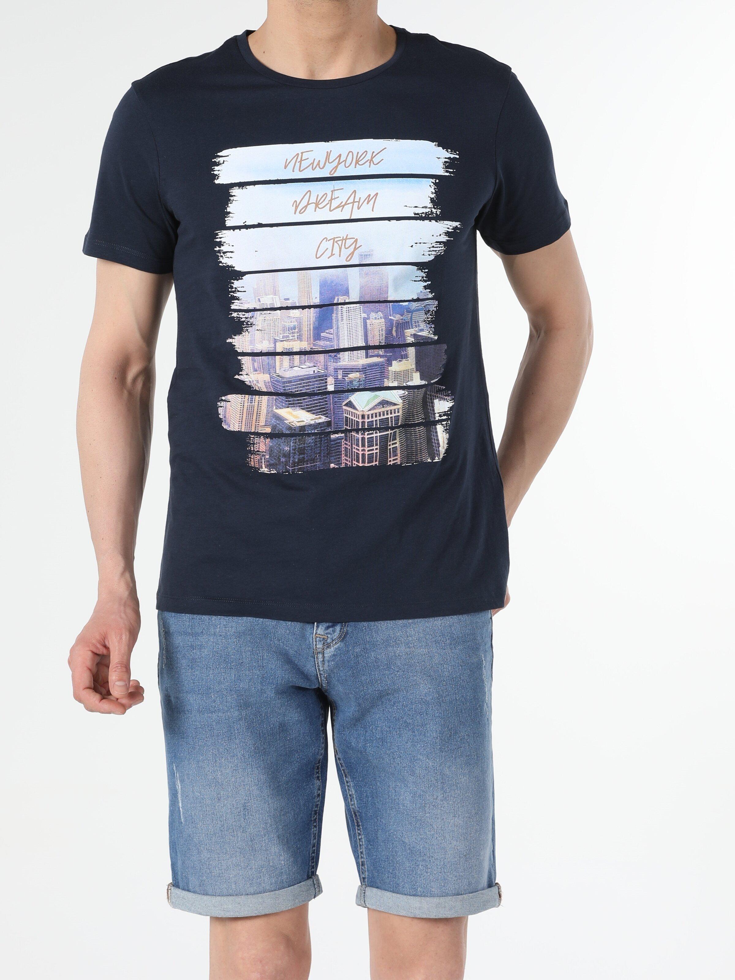 Показать информацию о Мужская футболка с коротким рукавом regular fit CL1054291