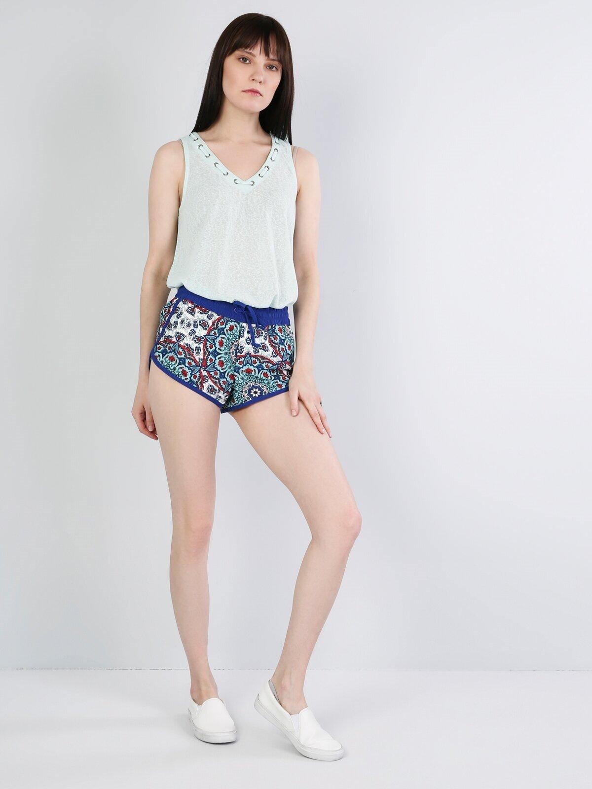 Показать информацию о Синий жен. Пляжные шорты