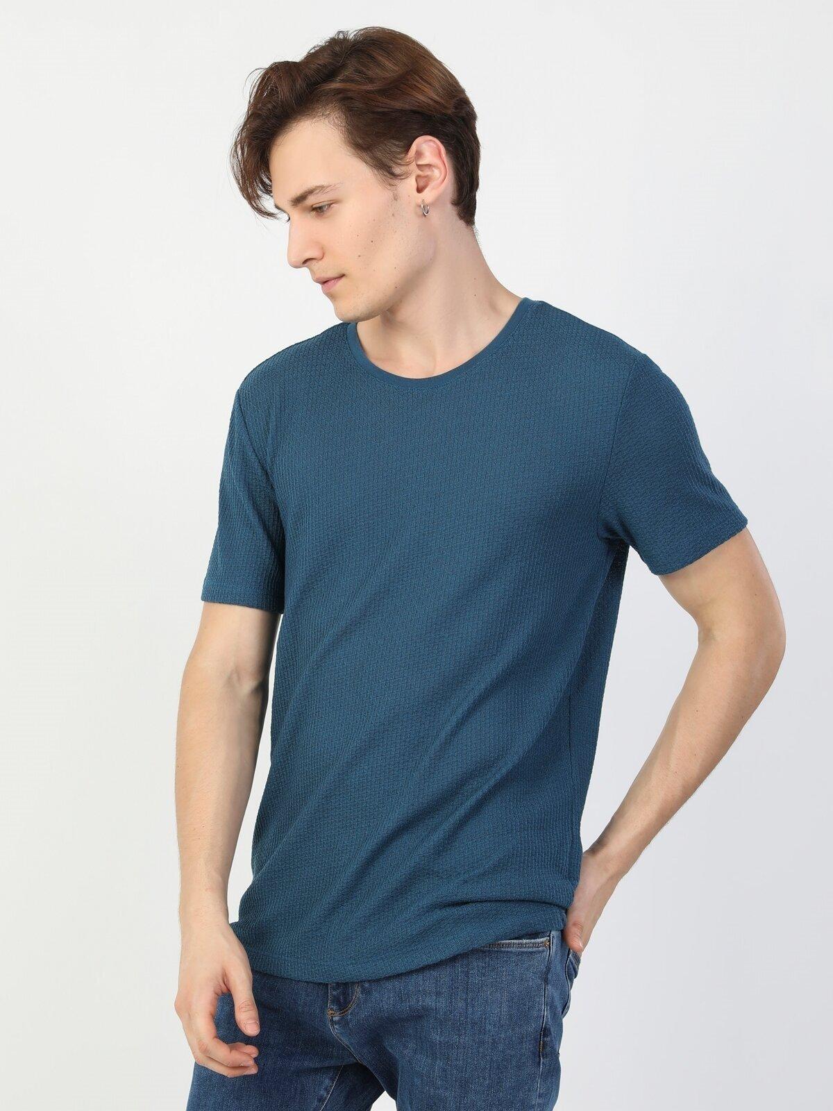 Показать информацию о Мужская футболка с коротким рукавом regular fit CL1046866