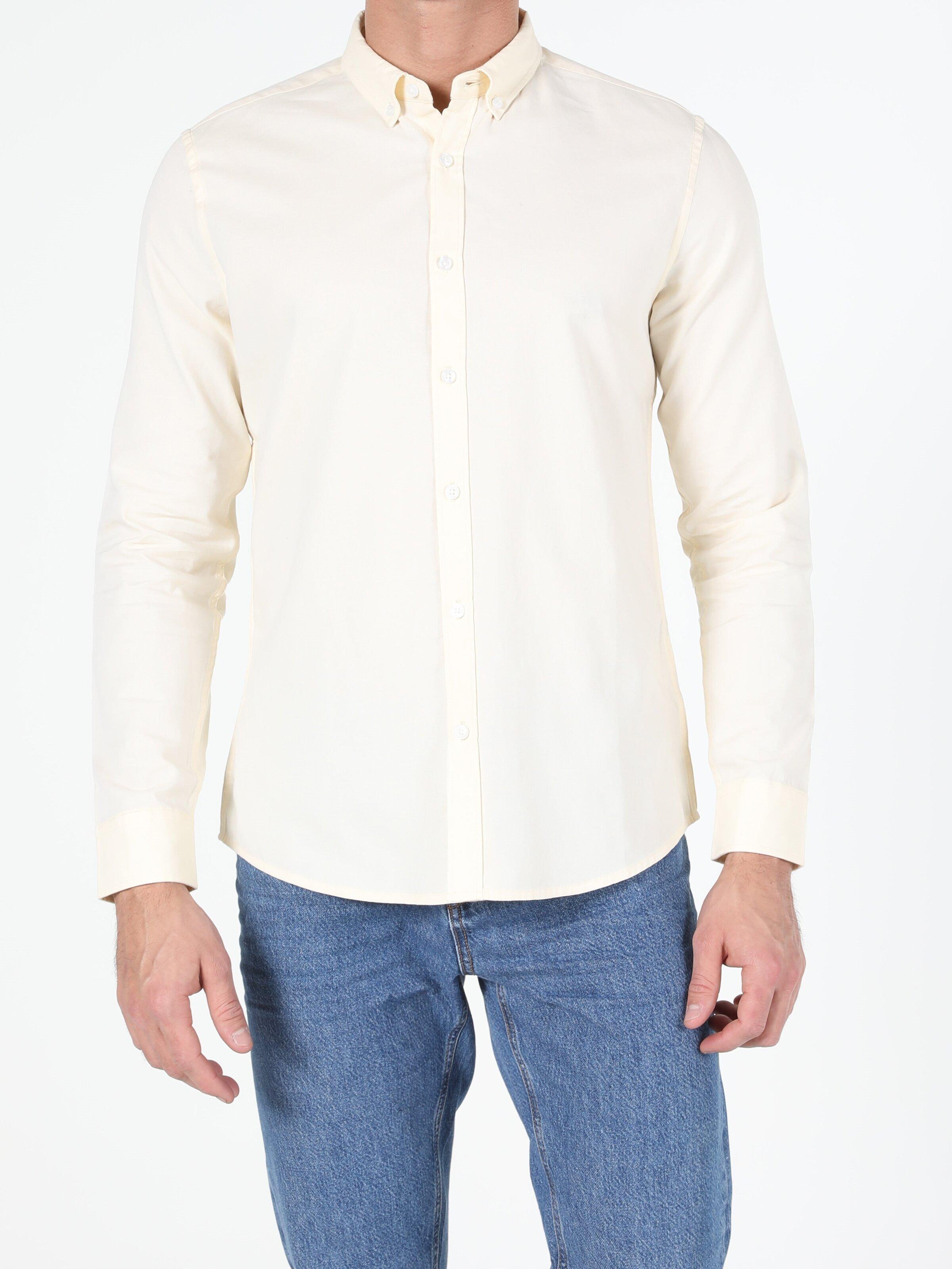 Показать информацию о Мужская рубашка с длинним рукавом slim fit CL1048576
