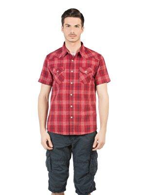 Изображение COLIN'S красный муж. Рубашки Короткий рукав