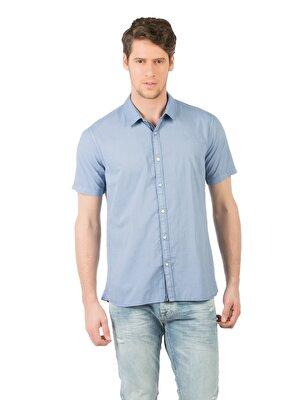 Изображение COLIN'S голубой муж. Рубашки Короткий рукав