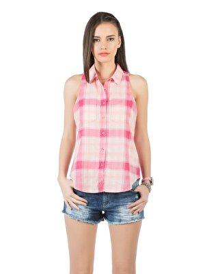Изображение Розовый жен. Рубашки Короткий рукав