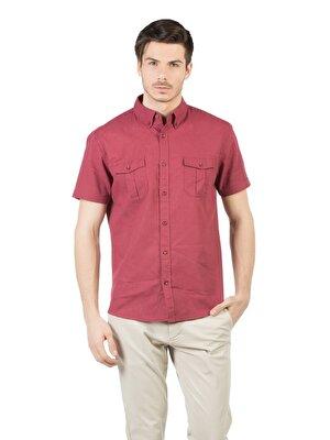 Изображение COLIN'S бордовый муж. Рубашки Короткий рукав
