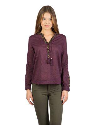 Изображение COLIN'S пурпурный жен. Рубашки Длинний рукав