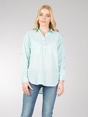 Изображение Зеленый жен. Рубашки Длинний рукав