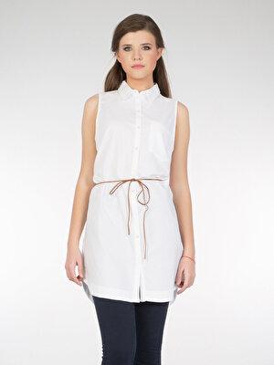 Изображение COLIN'S Белый жен. Рубашки Короткий рукав
