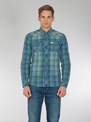 Изображение COLIN'S Зеленый муж. Рубашки Длинний рукав