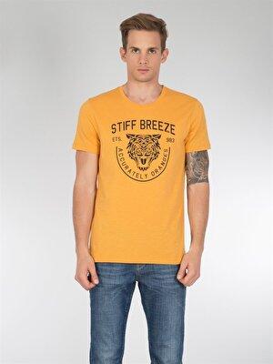 Изображение COLIN'S сафран желтый муж. Футболки Короткий рукав