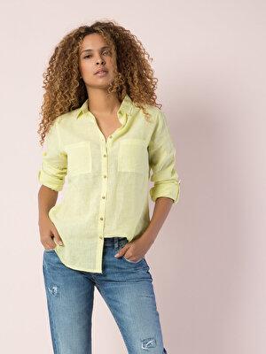 Изображение COLIN'S желтый жен. Рубашки Длинний рукав