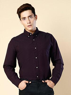 Изображение Бордовый муж. Рубашки Длинний рукав
