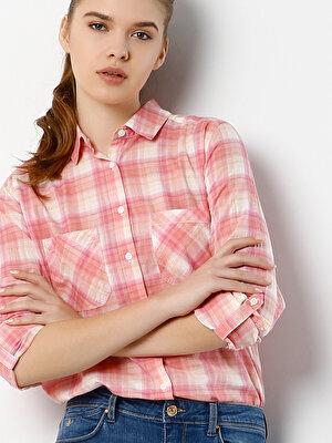 Изображение COLIN'S лосось жен. Рубашки Длинний рукав