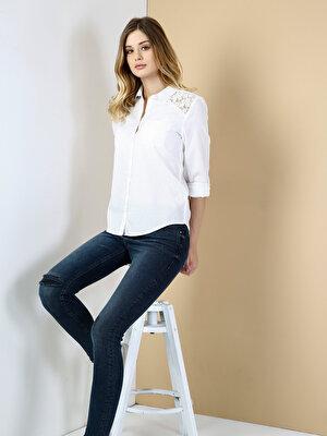 Изображение COLIN'S Белый жен. Рубашки Длинний рукав