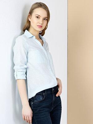 Изображение COLIN'S Голубой   жен. Рубашки Длинний рукав