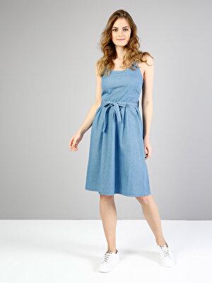Изображение Голубой жен. Платья