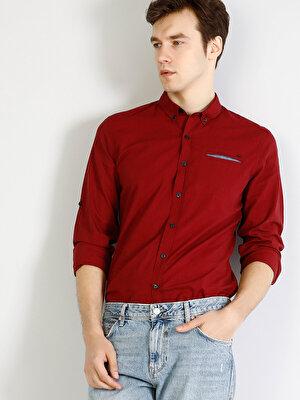 Изображение COLIN'S красный муж. Рубашки Длинний рукав