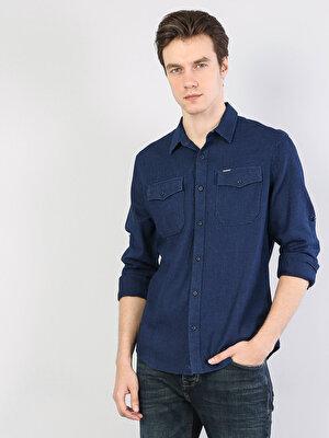 Изображение COLIN'S Голубой муж. Рубашки Длинний рукав