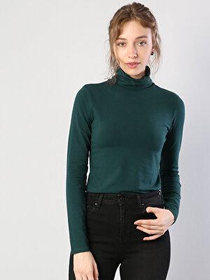 Изображение Зеленый жен. Футболки Длинный рукав