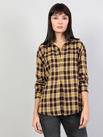 Изображение Шафрановый жен. Рубашки Длинний рукав