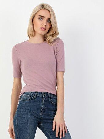Изображение Пурпурный жен. Футболки Короткий рукав