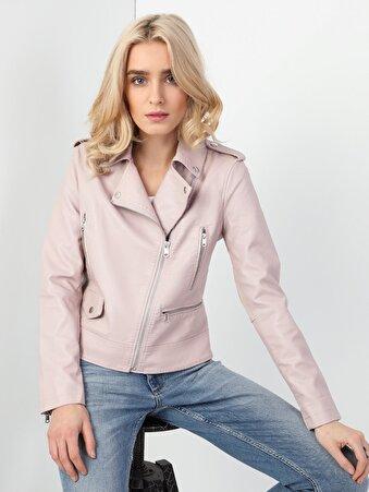 Изображение Розовый жен. Куртки-PU