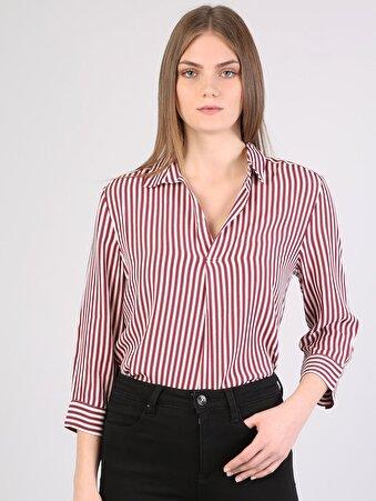 Изображение Красный жен. Рубашки Длинний рукав
