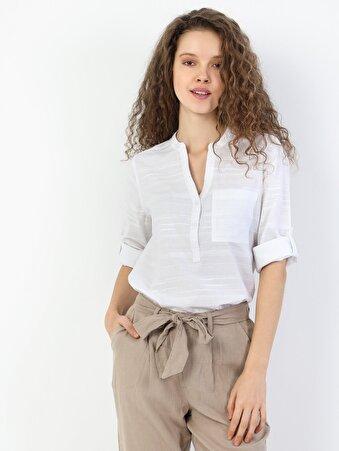 Изображение Белый жен. Рубашки Длинний рукав