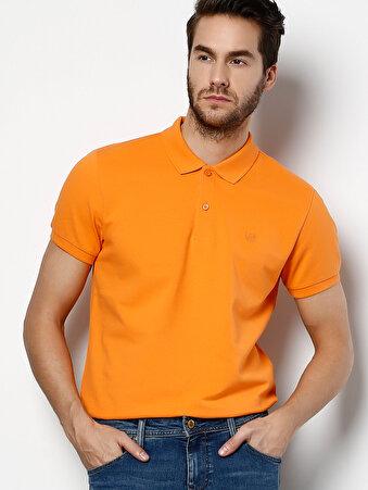 Изображение Оранжевая Футболка С Воротником Поло