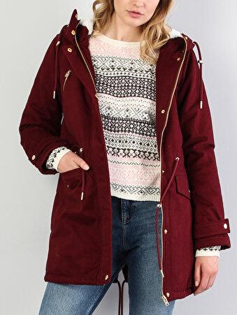 Изображение Бордоввое Женское Пальто