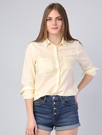Изображение Желтый жен. Рубашки Длинний рукав