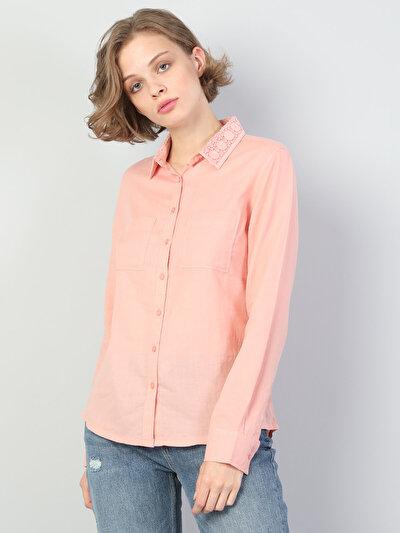 Изображение Розовый жен. Рубашки Длинний рукав