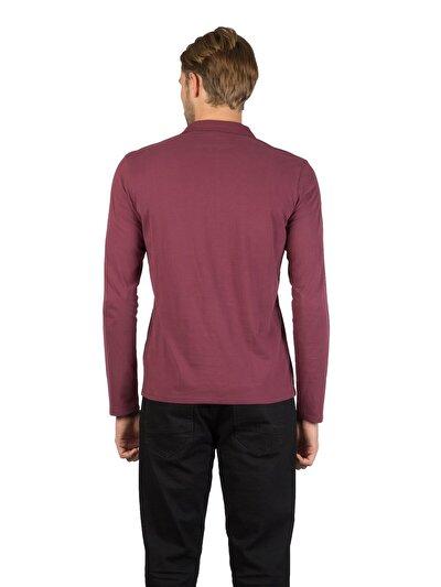 Купить со скидкой COLIN'S бордовый мужской футболки-поло д. рукав