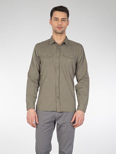 COLINS зеленый мужской рубашки длинний рукав<br>Пол: мужской; Цвет: зеленый; Размер INT: XL;