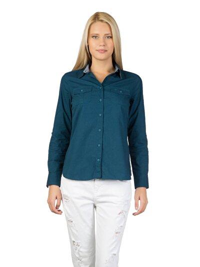 Купить со скидкой COLIN'S голубой   женский рубашки длинний рукав