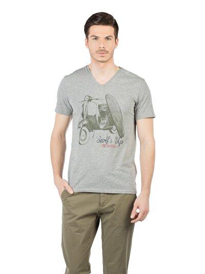 Купить со скидкой COLIN'S серый мужской футболки короткий рукав