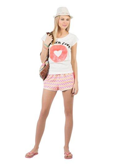 COLINS розовый женский пляжные шорты<br>Пол: женский; Цвет: неоново-розовый; Размер INT: L;