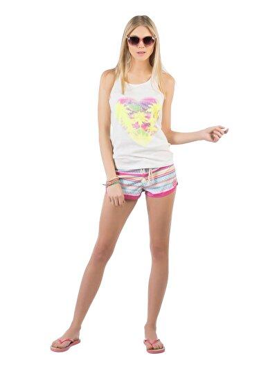 COLINS розовый женский пляжные шорты<br>Пол: женский; Цвет: неоново-розовый; Размер INT: M;