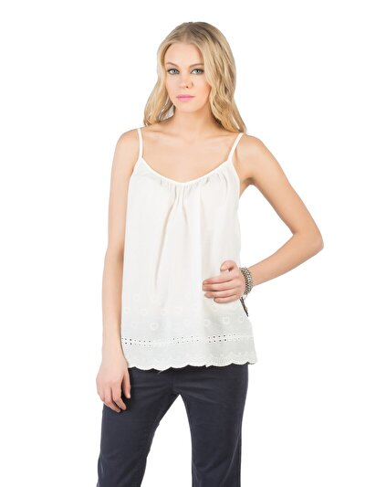 COLINS белый женский рубашки короткий рукав<br>Пол: женский; Цвет: белый; Размер INT: L;
