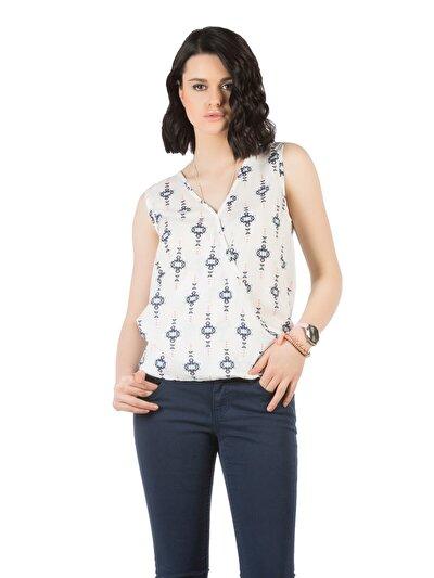 COLINS белый женский рубашки короткий рукав<br>Пол: женский; Цвет: белый; Размер INT: S;