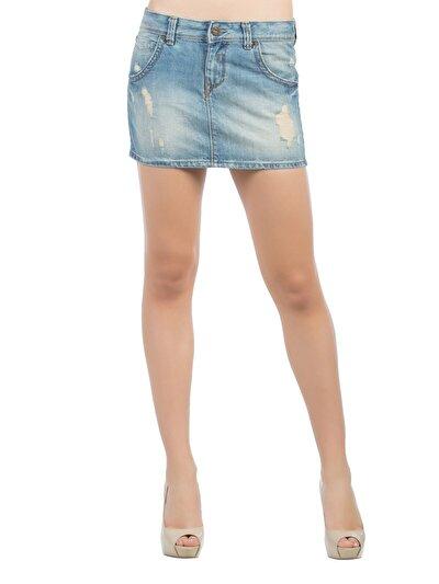 COLINS деним женский юбки<br>Пол: женский; Цвет: тинт тира уош; Размер INT: 36;