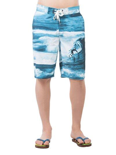 COLINS синий бирюзовый мужской пляжные шорты<br>Пол: мужской; Цвет: синий бирюзовый; Размер INT: M;