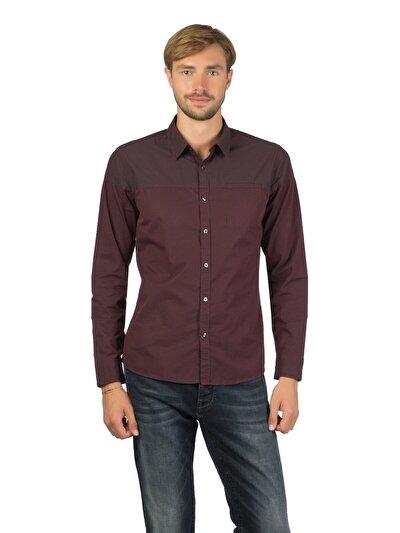 Купить со скидкой COLIN'S пурпурный мужской рубашки длинний рукав