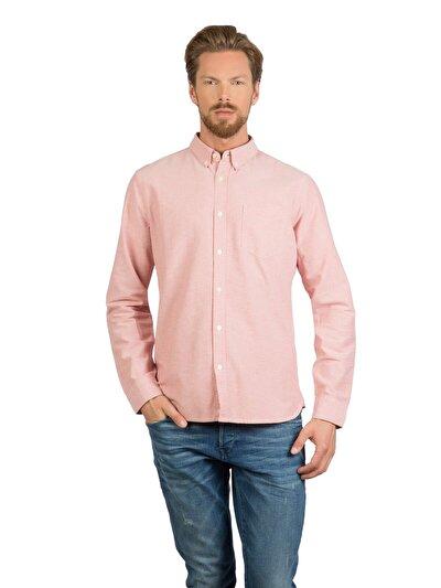 COLINS кораловый мужской рубашки длинний рукав<br>Пол: мужской; Цвет: кораловый; Размер INT: M;