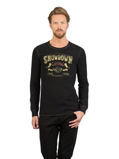 Купить со скидкой COLIN'S черный мужской футболки длинный рукав