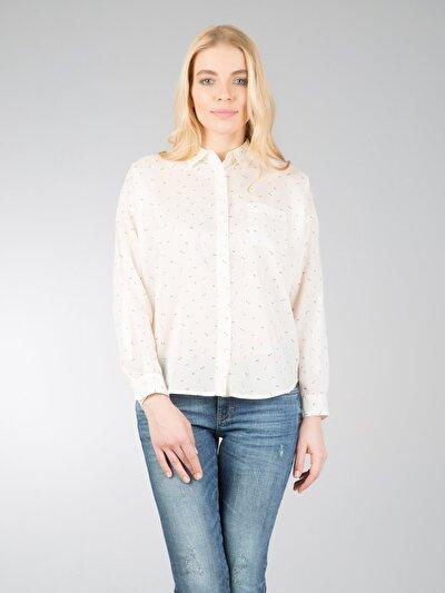 Купить со скидкой COLIN'S бежевый женский рубашки длинний рукав